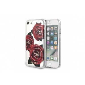 Guess Flower Desire Hülle / Cover iPhone 8 Plus / 7 Plus Transparent