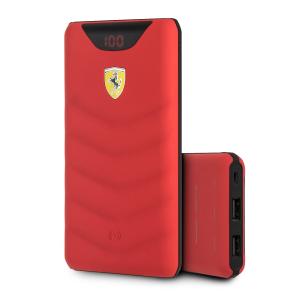 Ferrari Wireless Power Bank 10000 mAh Rot