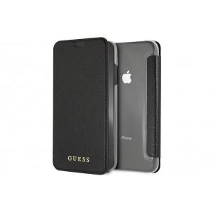 Guess IriDescent Tasche / Book Cover für iPhone XS Max Schwarz