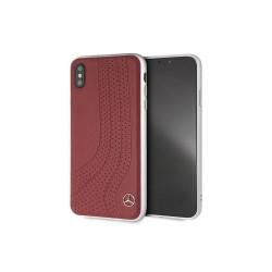 Mercedes Benz Wave II Echtleder Hülle / Cover für iPhone XS Max Rot