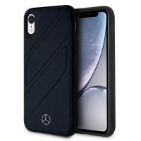 Mercedes Benz Organic II Echtleder Hülle / Cover iPhone XR Navy