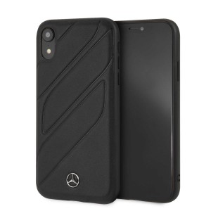 Mercedes Benz Organic Echtleder Hülle / Cover iPhone XR Schwarz