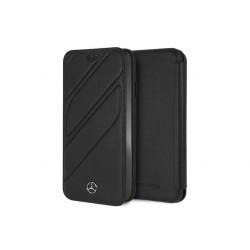 Mercedes Benz Organic II Echtleder Tasche / Book Cover iPhone XS Max Schwarz