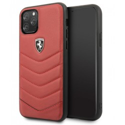 Ferrari HERITAGE Quilted Lederhülle  iPhone 11 Pro Max Rot FEHQUHCN65RE
