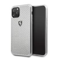 Ferrari Heritage Carbon Schutzhülle iPhone 11 Pro Max Silber FEHCAHCN65SI