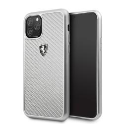 Ferrari Heritage Carbon Schutzhülle iPhone 11 Silber FEHCAHCN61SI