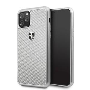 Ferrari Heritage Carbon Schutzhülle iPhone 11 Pro Silber FEHCAHCN58SI