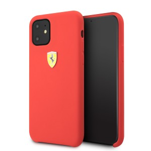 Ferrari Silikon Hülle iPhone 11 Rot FESSIHCN61RE