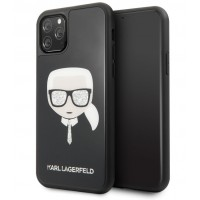 Karl Lagerfeld Iconic Signature Hülle iPhone 11 Pro Max Schwarz