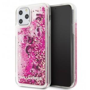 Karl Lagerfeld Floating Charms Hülle Glitter iPhone 11 Pro Pink KLHCN58ROPI
