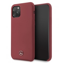 Mercedes Benz Liquid Silikon Hülle Microfiber iPhone 11 Pro Max Rot MEHCN65SILRE