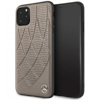 Mercedes Benz Perforated Quilted Echtes Lederhülle iPhone 11 Pro Max Braun MEHCN65DIQBR