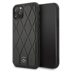 Mercedes Benz Quilted Echtes Lederhülle iPhone 11 Pro Max Schwarz MEHCN65MULBK