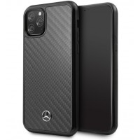 Mercedes Benz Real Carbon Fiber Hülle iPhone 11 Pro Max Schwarz MEHCN65RCABK