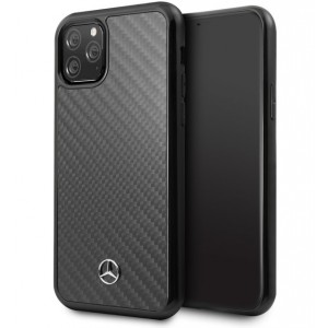 Mercedes Benz Real Carbon Fiber Hülle iPhone 11 Pro Schwarz MEHCN58RCABK