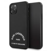 Karl Lagerfeld Hülle 21 Rue St Guillaume iPhone 11 Schwarz KLHCN61NYBK