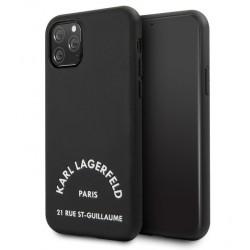 Karl Lagerfeld Lederhülle 21 Rue St Guillaume iPhone 11 Pro Max Schwarz KLHCN65NYBK