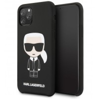 Karl Lagerfeld Silicone Hülle Karl Iconic iPhone 11 Pro Max Schwarz