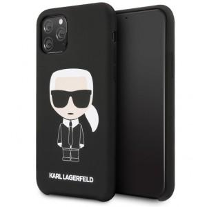 Karl Lagerfeld Silicone Hülle Karl Iconic iPhone 11 Pro Max Schwarz KLHCN65SLFKBK