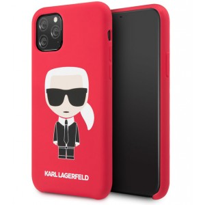 Karl Lagerfeld Silicone Hülle Karl Iconic iPhone 11 Pro Rot KLHCN58SLFKRE
