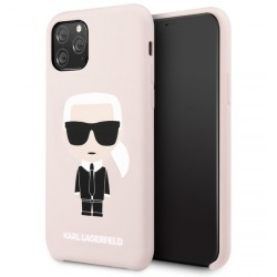 Karl Lagerfeld Silicone Hülle Karl Iconic iPhone 11 Pro Max Rose KLHCN65SLFKPI