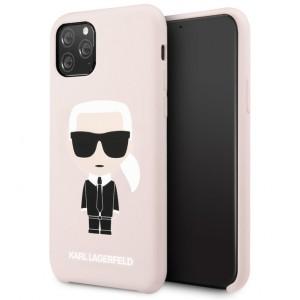 Karl Lagerfeld Silicone Hülle Karl Iconic iPhone 11 Pro Rose KLHCN58SLFKPI