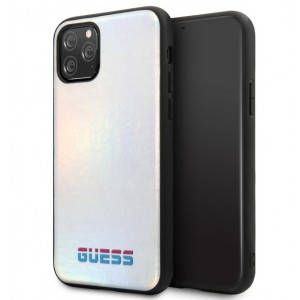 Guess Hülle Iridescent Kollektion iPhone 11 Pro Silber GUHCN58BLD