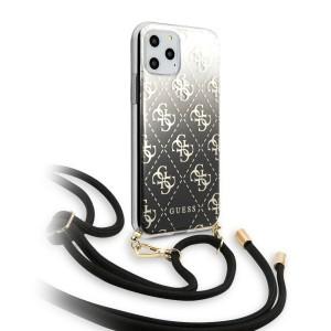 Guess ELECTROPLATED GRADIENT Hülle iPhone 11 Pro Handykette Schwarz  GUHCN58WO4GBK