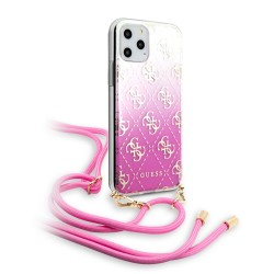 Guess ELECTROPLATED GRADIENT Hülle iPhone 11 Pro Max Handykette Pink