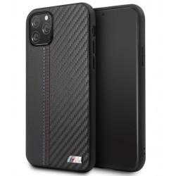 BMW M Serie Carbon / Leder Hülle iPhone 11 Pro Max Schwarz BMHCN65MCARBK