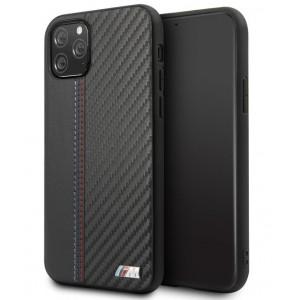 BMW M Serie Carbon / Leder Hülle iPhone 11 Pro Schwarz BMHCN58MCARBK