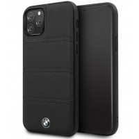 BMW Lederhülle / Real Leather iPhone 11 Pro Max Echtes Leder Schwarz BMHCN65PELBK