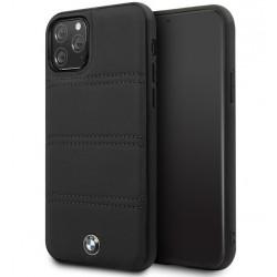 BMW Lederhülle / Real Leather iPhone 11 Echtes Leder Schwarz BMHCN61PELBK