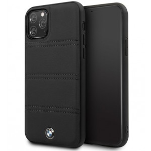 BMW Lederhülle / Real Leather iPhone 11 Echtes Leder Schwarz BMHCN61PELBK