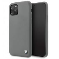 BMW Silikon Hülle iPhone 11 Pro Max mit Innenfutter Grau BMHCN65SILDG