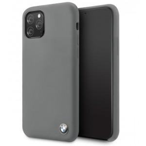 BMW Silikon Hülle iPhone 11 mit Innenfutter Grau BMHCN61SILDG
