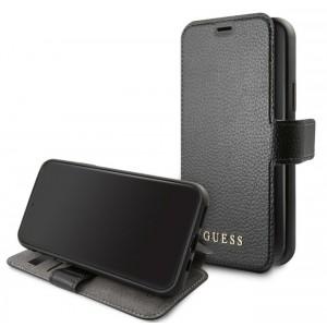 Guess Iridescent Ledertasche iPhone 11 Pro Schwarz GUFLBKSN58IGLBK
