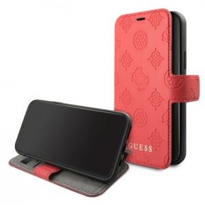 Guess Ledertasche 4G Peony Kollektion iPhone 11 Pro Rot GUFLBKSN58PELRE