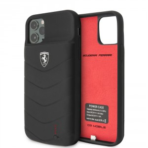 Ferrari iPhone 11 Pro Power-Case Silicone 3600mAh Schwarz