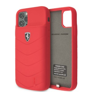 Ferrari iPhone 11 Pro Power-Case Silicone 3600mAh Rot