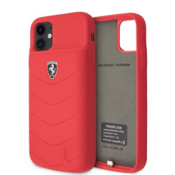 Ferrari iPhone 11 Power-Case Silicone 4000mAh Rot