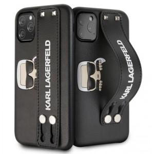Karl Lagerfeld Embossed Strap Hülle iPhone 11 Pro Schwarz KLHCN58HA2BK