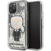 Karl Lagerfeld Glitter Glow in the dark iPhone 11 Pro Transparent KLHCN58GLGIRKL
