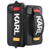 Karl Lagerfeld Strap Hülle iPhone 11 Pro Schwarz KLHCN58HDAWBK