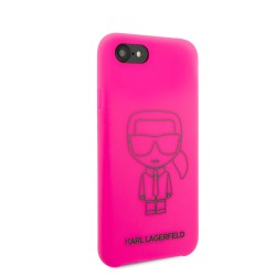 Karl Lagerfeld iPhone SE 2020 / 8 / 7 Silicon Iconic Hülle Innenfutter Rink