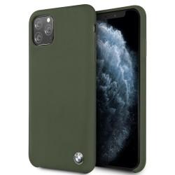 BMW Liquid Silikon Hülle iPhone 11 Grün BMHCN61SILMG