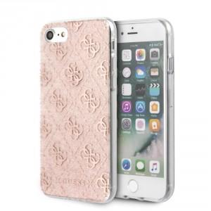 Guess 4G Glitter Hülle iPhone 7 / 8 / 9 / SE2 Rose GUHCI8PCU4GLPI