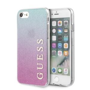 Guess iPhone SE 2020 / iPhone 8 / 7 Gradient Glitter Hülle Pink / Blau GUHCI8PCUGLPBL