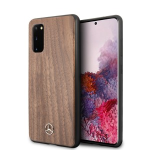 Mercedes Samsung Galaxy S20+ Plus Wood Line Walnut Schutzhülle Braun