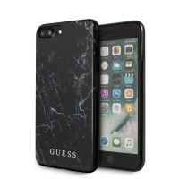 GUESS iPhone 8 Plus / 7 Plus Cover / Case / Hülle Marble schwarz